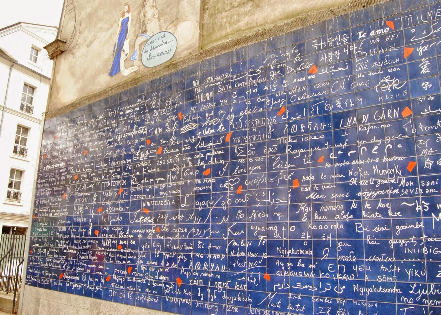 Uno dei luoghi top per gli innamorati nel giorno di San Valentino è il muro dei Ti Amo a Montmartre