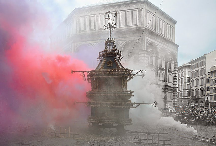 Lo scoppio del carro a Pasqua è una tradizione antica a Firenze