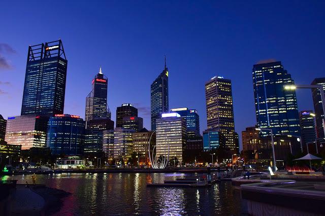 Skyline di Perth, Australia
