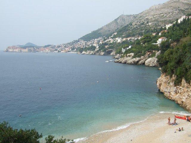 La spiaggia di sveti jakov a Dubrovnik