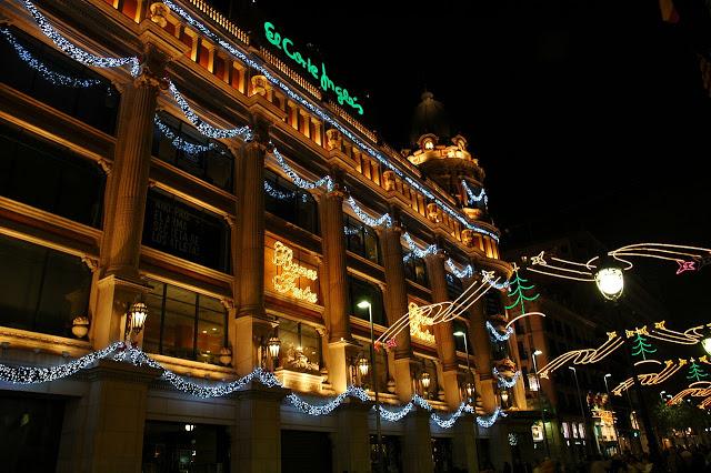 addobbi natalizi a Barcellona, in Spagna
