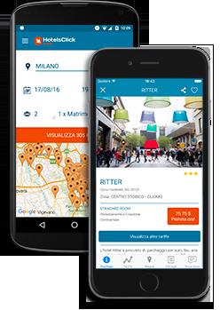l'app di Hotelsclick.com per telefoni Android e iPhone
