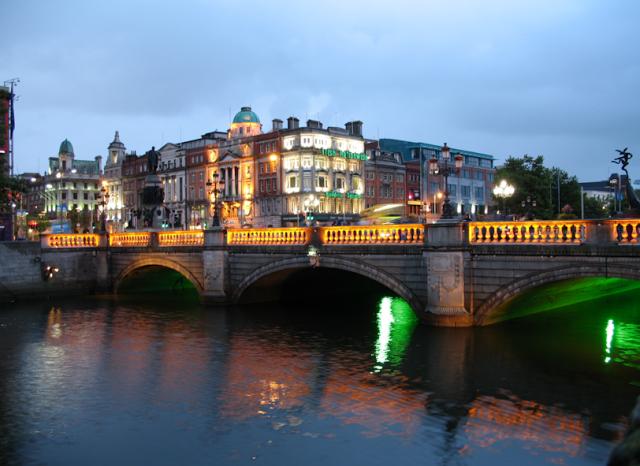 vista su fiume Liffey, Dublino