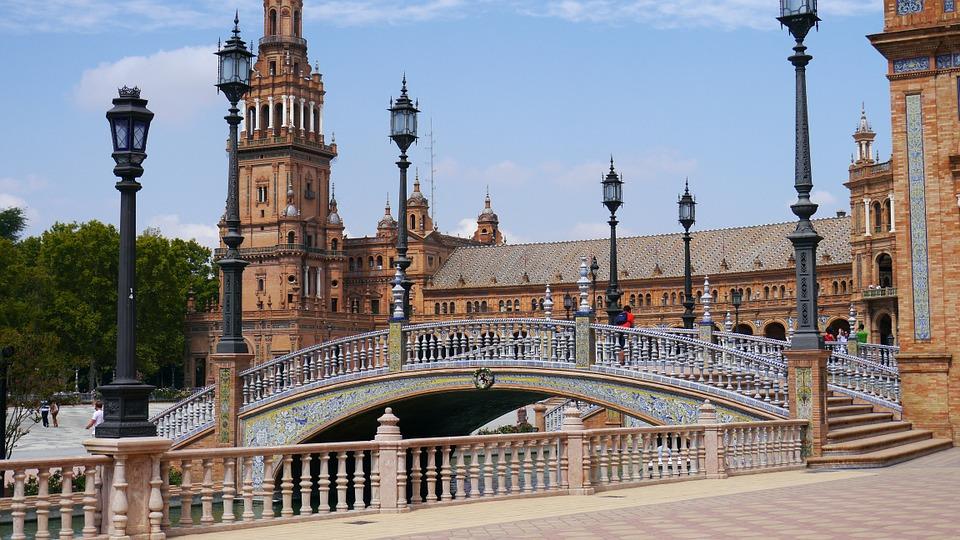 attrazione del centro storico di Siviglia, Spagna