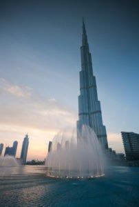 Burj Khalifa e la Dubai Fountain