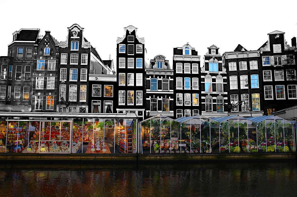 Il mercato dei fiori, Bloemenmarket, Amsterdam