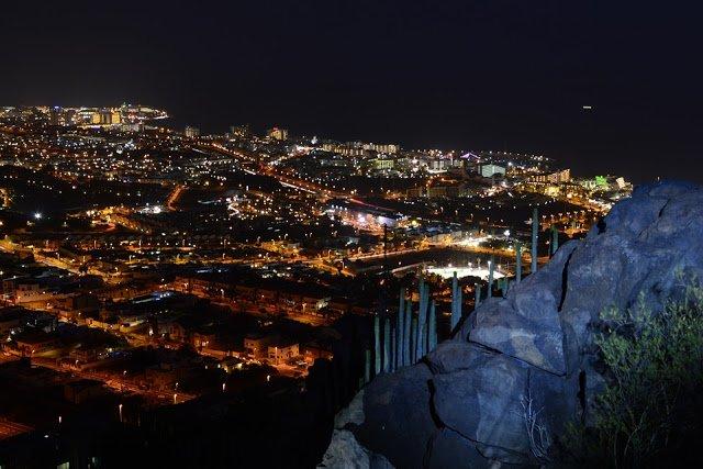 Vista notturna di Tenerife