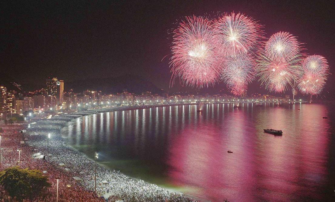 Il colpo d'occhio a Rio De Janeiro durante la notte dell'ultimo è davvero d'effetto