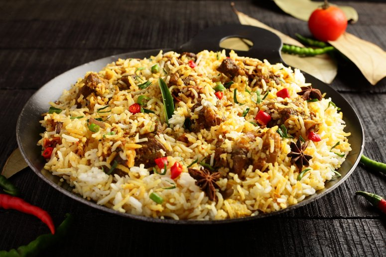Biryani, tipico cibo natalizio in India