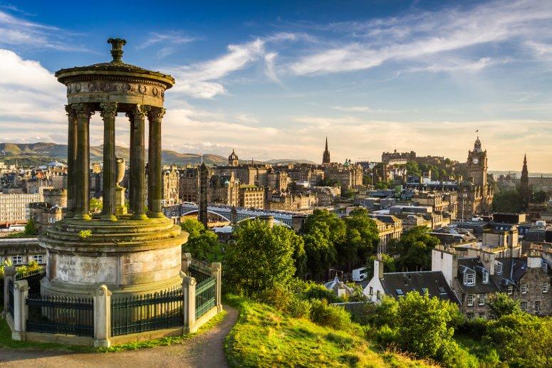 Pasqua a Edimburgo, in Scozia