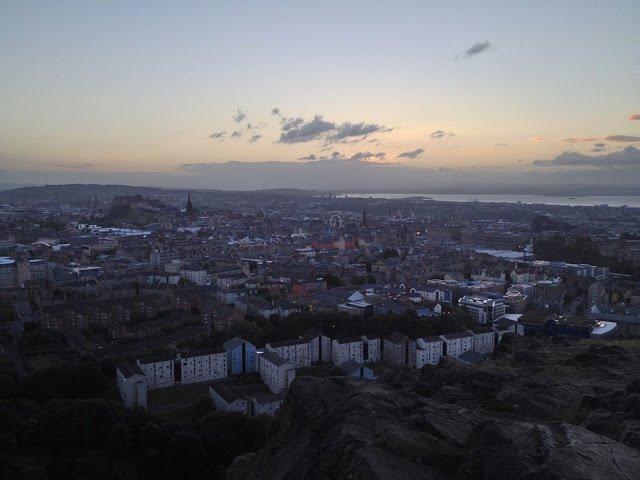 Panorama dall'Arthur's Seat, Edimburgo