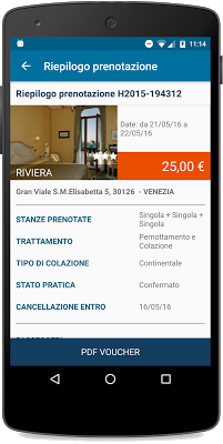 la tua conferma voucher attraverso la nuova app gratuita di Hotelsclick.com