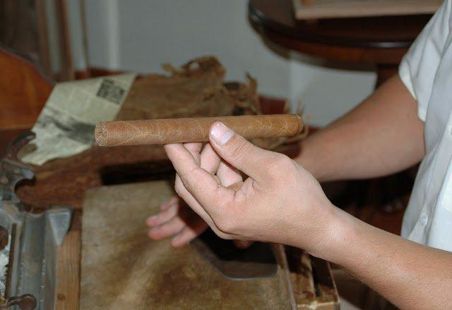creazione a mano di un sigaro cubano