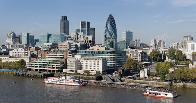 skyline della City di Londra