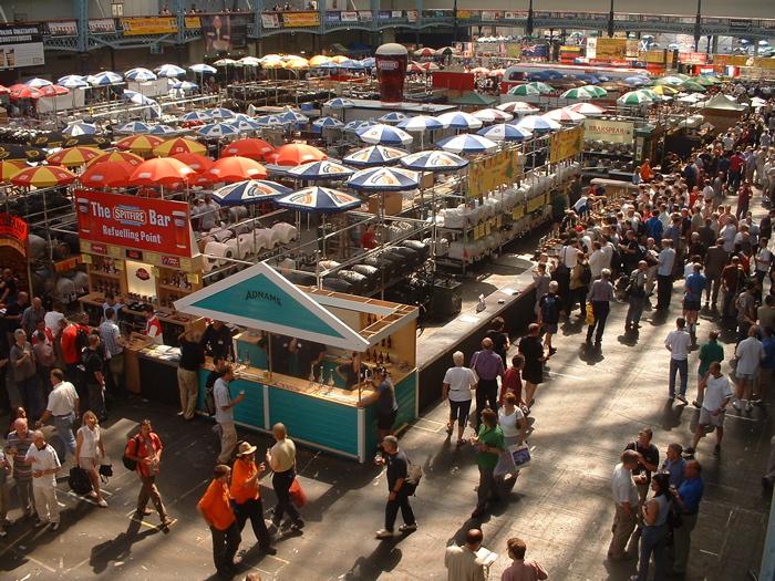 stand di birra del Great British Beer Festival a Londra, Regno Unito