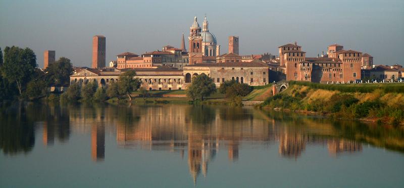 Vista su Mantova, una dei siti italiani più belli