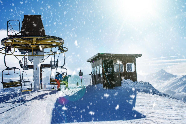 Natale sulla neve in montagna
