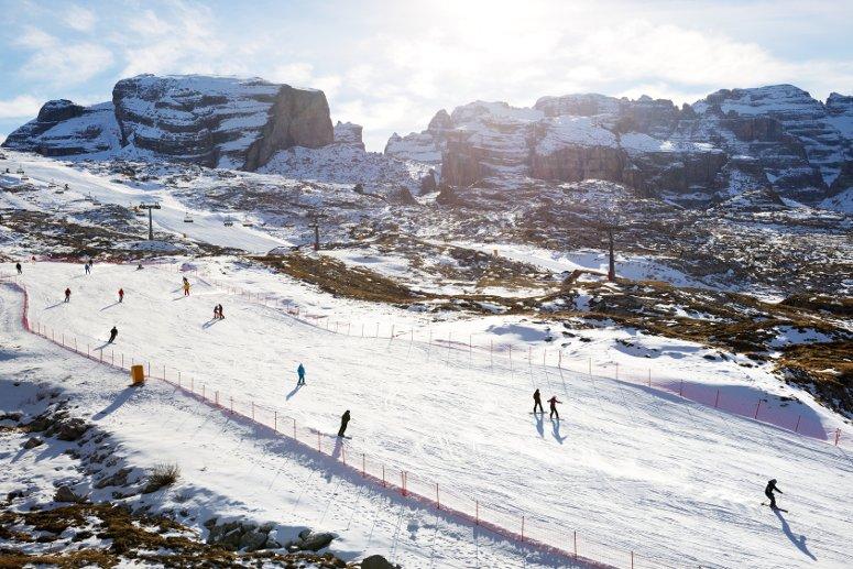 Sciare a Madonna di Campiglio, in Trentino