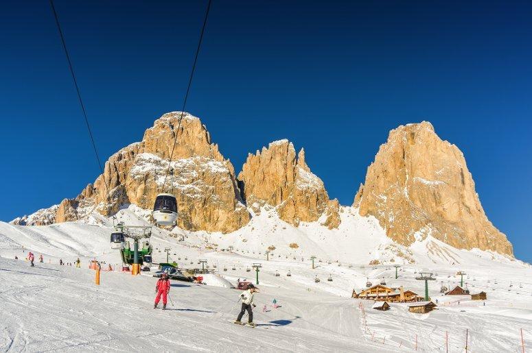 Sciare nella Val di Fassa, Trentino