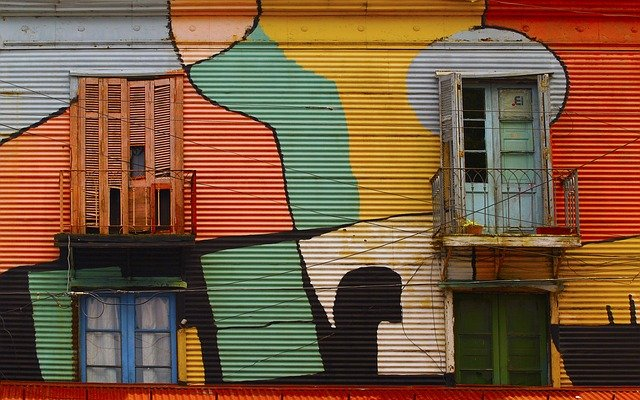 Il Caminito a La Boca, quartiere di Buenos Aires: la via del tango