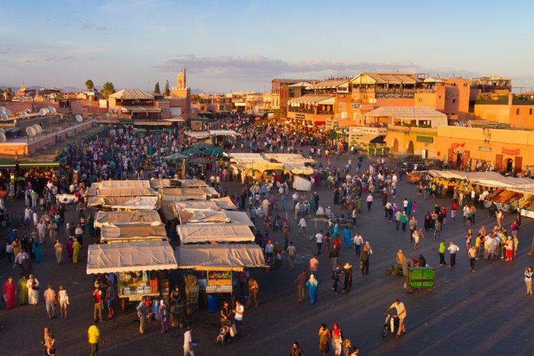 Jamaa el Fna, la piazza principale di Marrakech