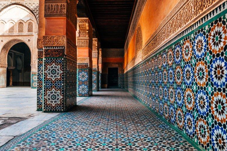 Tipica architettura di un riad a Marrakech