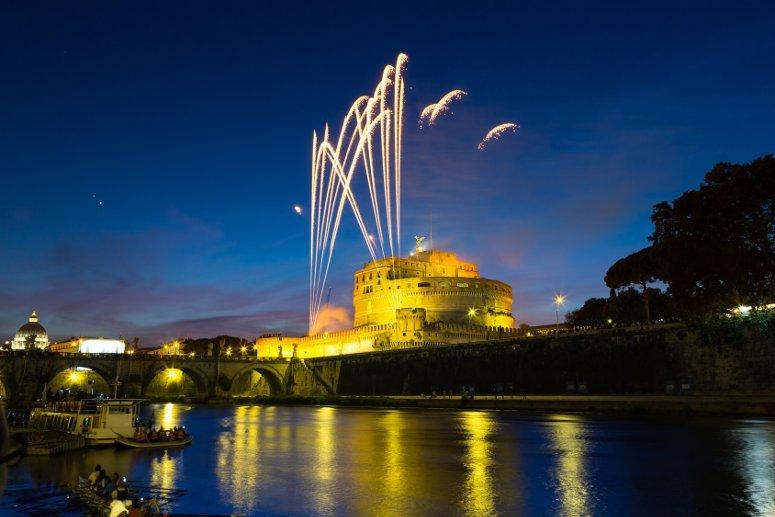 Capodanno Roma 2017-2018: i fuochi d'artificio da Castel Sant'Angelo