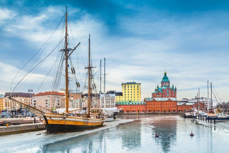 La zona del porto di Helsinki.