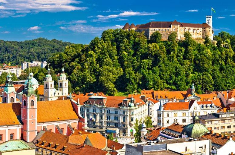Il castello di Lubiana è sicuramente tra le cose da vedere in città.