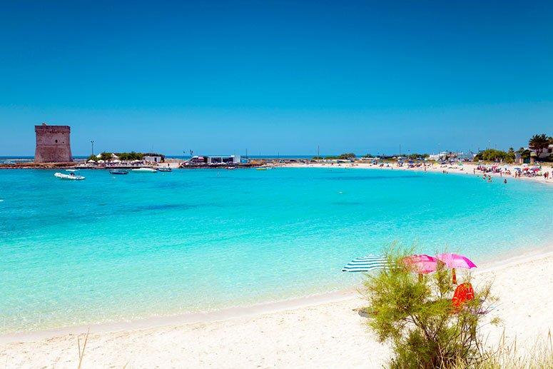 Le spiagge più belle del Salento: Baia di Torre Lapillo, nei pressi di Porto Cesareo.
