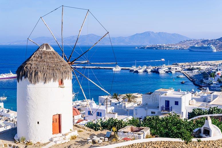 Mykonos: una delle isole più belle della Grecia.