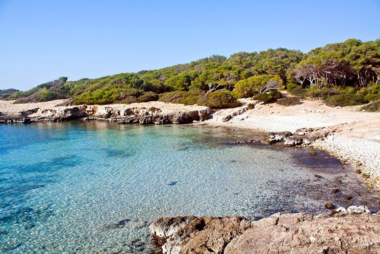 Le spiagge più belle del Salento: Porto Selvaggio vicino alla città di Nardò, in provincia di Lecce.