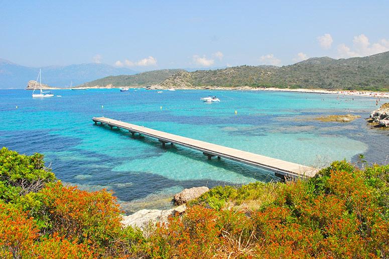 La spiaggia di Loto a San Fiorenzo, Corsica