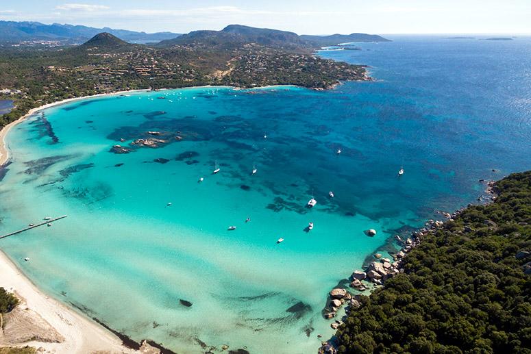 La spiaggia di Santa Giulia a Porto vecchio, Corsica